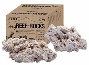 ARKA Aquatics MRROSMD myReef-Rocks – Pierre Naturelle récif Convient également pour Les Aquariums de cichlide, très Poreuse, sans substances nocives, 20 kg, M