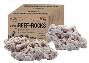ARKA Aquatics MRROSSM myReef-Rocks – Pierre Naturelle de récif Convient également pour Les Aquariums de cichlide, très Poreuse, sans substances nocives, 20 kg S