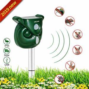 AWLGAK Répulsif Chat Exterieur- Répulsif Chat Ultrason Solaire Sensibilité et Fréquence Réglable Ultrason Chat pour Repousser Animaux Nuisibles Protecteur de Jardi (1 pcs)