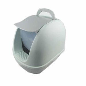 aycpg Boîte de litière for Chat Chat Type de litière à litière entièrement fermée Toilette Cat Anti-éclaboussures Chat Pot tiroir Fournitures Déodorant Cat (Color : Grey, Size : XX)