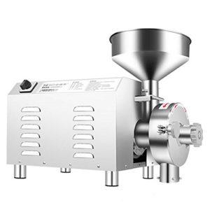 BAOSHISHAN 2200W Capacité: 30-50 kg/h Machine de broyage de Grains Superfine Commerciale Machine à moulins à café à épices et à Fines Herbes Chinois Sucre Peppe SOYA (220V)