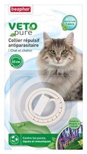 Beaphar – VETOpure, collier répulsif antiparasitaire – chat et chaton – blanc