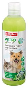 Beaphar – VETOpure, shampooing répulsif antiparasitaire – chien et chat – 250 ml