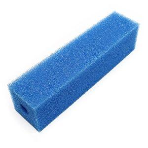 Cartouche de mousse de filtration 9.5×9.5x50cm moyen bleu pour systèmes de filtrage existants