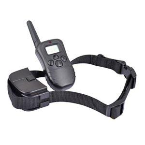 COOSA Collier de dressage Collier de Chien Rechargeable LCD Télécommande Control Shock avec les 100 niveux de Vibration + Choc Statique + Bip Sonore ou Electrique avec Télécommande Numérique pour le Chien