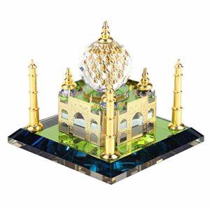 Cristal Musulman modèle de bâtiment Taj Mahal,modèle Miniature 8x8x7cm mosquée bâtiment Indien pour la Maison Christmax Festival de Reconnaissance Anniversaire célébrant Cadeau décoration de Bureau
