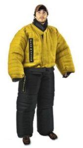 Dean & Tyler Costume de Protection Complet Contre Les morsures, Lin français Solide – Noir/Jaune – Taille: TTT-Large (H: 178 cm à 188 cm, P: 100 kg à 105 kg)