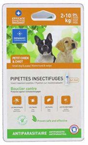 Demavic Pipettes Insectifuges pour Petit Chien 2-10 kg