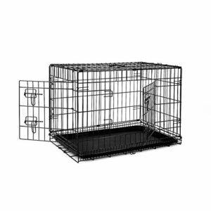 dibea 2 Portes Cage pour Chien Pliable et transportable avec Poignées et Plateau (L)