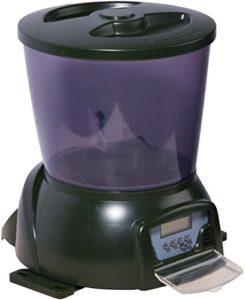 dobar 25001 Distributeur Automatique de Nourriture pour Poissons de Bassin avec écran LCD pour l'extérieur Vert 22 x 22,5 x 26,5 cm