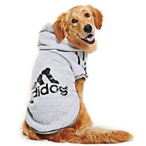 DULEE AD. Dog Chien Chaud Capuche Manteau Jumpsuit Pet Vêtements Veste Pull Coton Pull pour Chien Costume