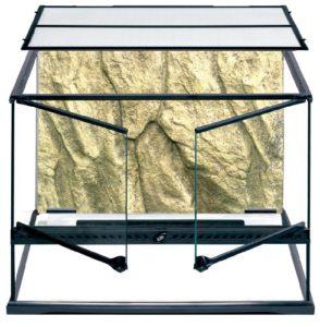 Exoterra Terrarium en Verre pour Reptiles et Amphibiens 60x45x45 cm