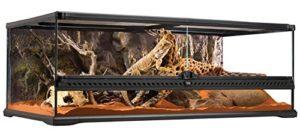Exoterra Terrarium en Verre pour Reptiles et Amphibiens 90 x 45 x 30 cm