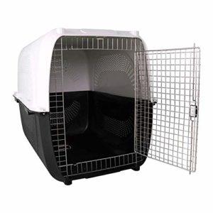 GBY Cage pour Animaux de Compagnie, très Grande boîte d'expédition pour Animaux de Compagnie, Cage de Chien très Grande Cage à air, 122 * 80 * 90cm