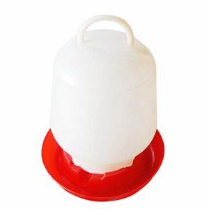 Guangcailun 3L Mangeoire Eau Dôme volaille Alimentation Distributeur d'eau Buveur PE Abreuvoir Boisson Animale Bowl