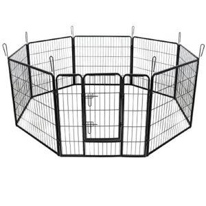 Helloshop26 Parc Enclos Cage pour Chien/Chiot 163 x 163 cm