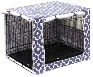 Housse de cage pour chien en polyester durable – Convient à la plupart des caisses de 61 cm – Semelles grises – 24