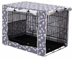 Housse de cage pour chien en polyester durable – Convient à la plupart des caisses pour chien – Gris clair – 48 cm