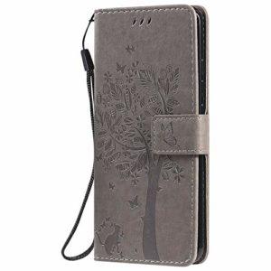 Jeewi Coque pour Xiaomi Mi Note 10/Note10 Pro/Lite Protection Housse en Cuir PU Pochette,[Emplacements Cartes][Fonction Support][Fermeture magnétique] pour Xiaomi Note 10 Lite/Pro – JEKT022012 Gris