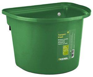 KERBL Mangeoire Amovible pour Cheval Vert Foncé 12 L
