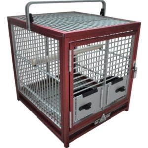 King's Cage de voyage Medium–Rouge