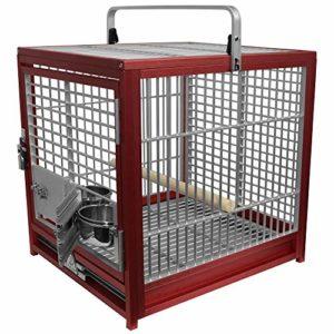 King's Cage de voyage Medium–Argent
