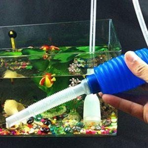 Kit de nettoyeur de gravier pour aquarium avec amorçage ampoule–2-minutes à monter–Facilite l'fréquent des Eau–pas besoin de retirer Poisson ou plantes–sans BPA Siphon–Idéal pour nettoyer les petits réservoirs de poissons