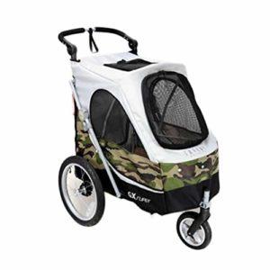 KKCD-Poussettes Chien Chariot de chien,Chariot pour chien pliable multifonctions pour animaux de compagnie Voiture de sport pour animaux à roues avant pivotantes à 360 ° et résistant à la déchirure. P