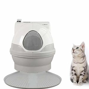 LKIHAH Bac À Litière pour Chat Toilette Automatique pour Chat, Litière Intelligente, Toilette Entièrement Fermée