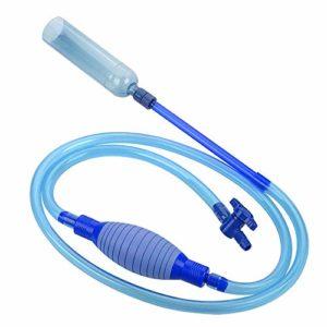 MEISO Pompe à siphon pour aquarium avec robinet de contrôle du débit – Égouttoir pour gravier et filtre à eau – Transfert automatique des fluides