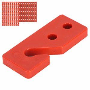 Nannday Plasson Automatique 100 pièces Plaque de réglage de la Ligne de flottaison Suspendue, Plaque de réglage Automatique de Poulet, pour(Material Line Adjustment Board)