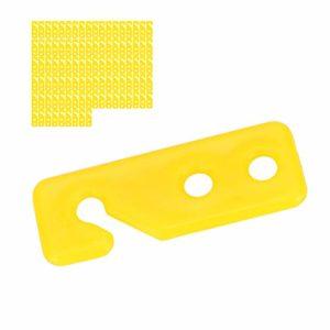 Nannday Plasson Automatique 100 pièces Plaque de réglage de la Ligne de flottaison Suspendue, Plaque de réglage Automatique de Poulet, pour(Waterline Adjustment Board)