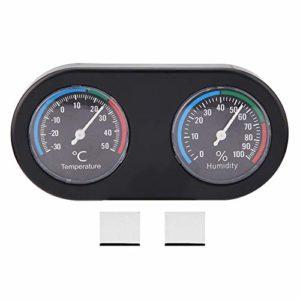 Nitrip Mini hygromètre de thermomètre de Forme Ronde analogique de mètre d'humidité de la température pour Le réservoir de Reptile
