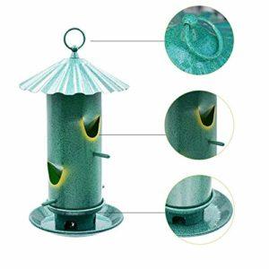 Nosterappou Mangeoire à Oiseaux, boîte à Nourriture pour Oiseaux Suspendue Balcon Perroquet mangeoire à Oiseaux Automatique extérieure