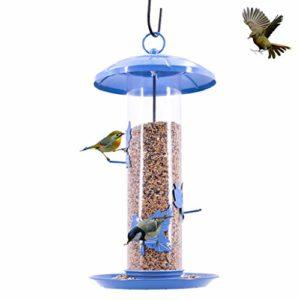 Nosterappou Mangeoire Automatique pour Oiseaux de Jardin en Plein air avec Toutes Les fuites