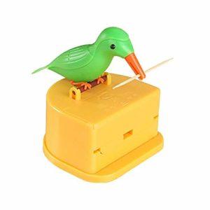 Nukana Distributeur De Cure-Dents Oiseau Oiseaux Automatique Boîte à Cure-Dents Support pour Cure-Dents