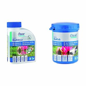 Oase 50562 AquaActiv BioKick Fresh pour Bassin 500 ML & 51277 AquaActiv BioKick Activateur de Filtre 100 ML