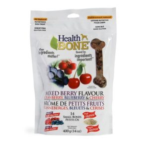Omega Paw Health Bone Small Berry Dog Treats, 14-Ounce by
