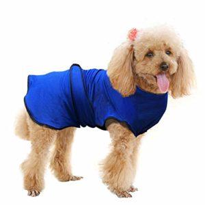 Pawhut Manteau rafraîchissant pour Chien Manteau d'été Taille M Polyester Bleu