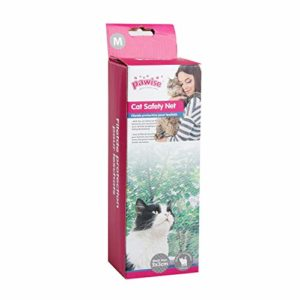 Pawise Filet de Protection pour Chat pour Balcon Transparent 400 x 300 cm