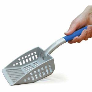 PetFusion Grande Pelle à litière pour Chat – Plastique ABS résistant et Bord Plat pour Pelle à la Pelle pour Un Nettoyage Plus Facile
