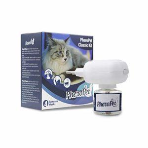 PheroPet – Phéromones pour chats anti-stress – Anti-marque, rayures, peurs, mauvais comportements (diffuseur + recharge 48 ml)…