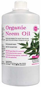 PINK SUN Huile de Neem Bio Pressée à Froid Vierge 250ml (Également disponible en 1 litre) Pure Organic Neem Oil – Cold Pressed Unrefined Concentrate