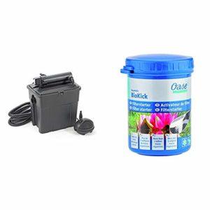 Pontec set filtre étang 8000 avec filtre uv et pompe & Oase 51277 AquaActiv BioKick Activateur de Filtre 100 ml
