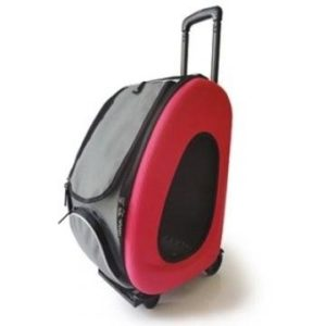 Poussette pour animaux domestiques, IPS-025/rose, chariot de transport pour chien, remorque, innopet, chariot, poussette pliable, poussette pour chiens et chats