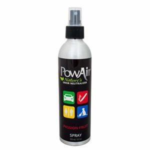 PowAir Spray – Désodorisant Professionnel pour environnements – Élimine Les odeurs d'urine causées par Les Animaux – Parfum Passion Fruit (250 ML)