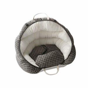 REW Pet Siège supplémentaire pour petits chiens et chats avec laisse de sécurité à clipser, imperméable, chaud, en peluche, sièges de sécurité pour voiture Marron