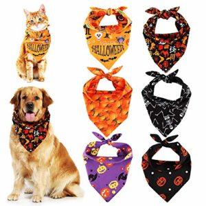 Rubywoo&chili Lot de 6 bandanas pour chien et chat en forme de triangle lavable et réversible