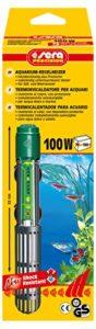 SERA Chauffage d'appoint 100 W pour chauffage de qualité avec verre à quartz résistant aux chocs et protection de sécurité