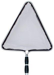 Söll 18829Épuisette Épuisette, Extra Fine, Triangulaire en Aluminium de qualité, télescopique de 60–150cm, 1x 1, Noir